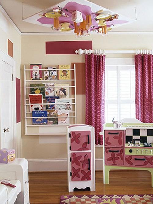 Bài trí phòng cho bé gái cực xinh xắn với màu hồng 3