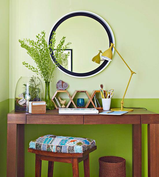 Trang trí phòng ngủ dịu mát, thư thái với gam màu xanh lá cây 6
