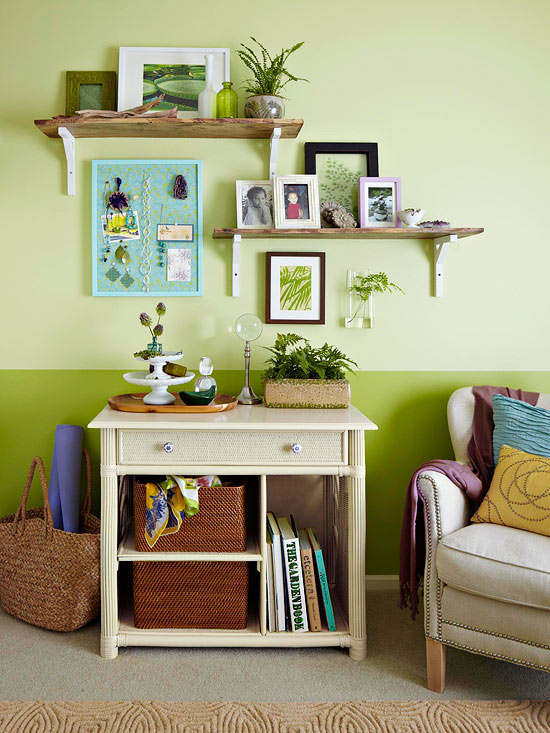 Trang trí phòng ngủ dịu mát, thư thái với gam màu xanh lá cây 4