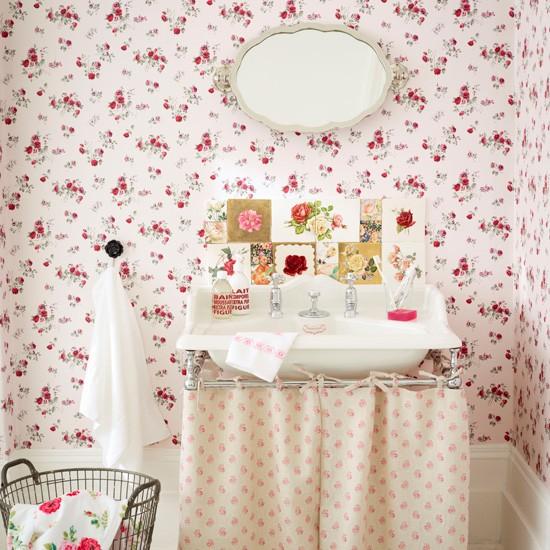 Phòng tắm ngọt ngào với phong cách vintage 1