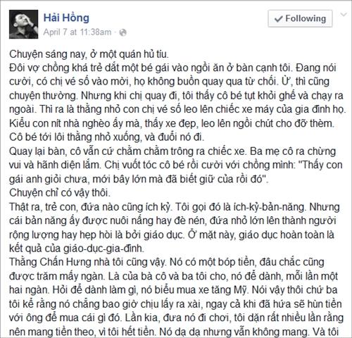 Chia sẻ dạy con hot trên Facebook 1