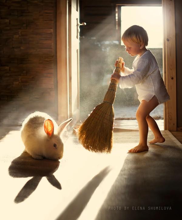 Bộ ảnh đẹp đến ngỡ ngàng của cậu bé bên các loài động vật 18