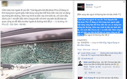 Rộ tin có kẻ giấu mặt nổ súng bắn vào các xe đi trên đường cao tốc  1