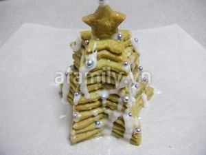 Cây thông Noel siêu tốc từ bánh cookie trà xanh 10