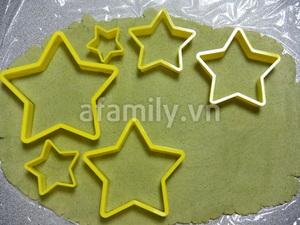 Cây thông Noel siêu tốc từ bánh cookie trà xanh 7