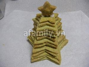 Cây thông Noel siêu tốc từ bánh cookie trà xanh 9
