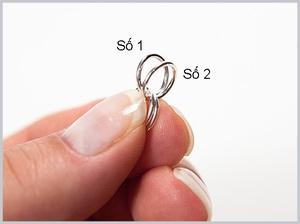 Dùng khoen tròn làm khuyên tai, vòng đeo tay đơn giản 4