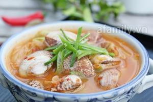 Nóng hổi bát canh nghêu kim chi cho bữa cơm ngày lạnh 9
