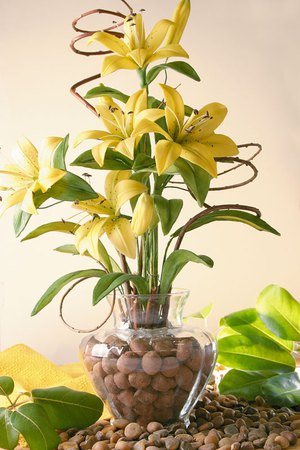 Làm bình hoa ly vàng rực rỡ đón năm mới 7