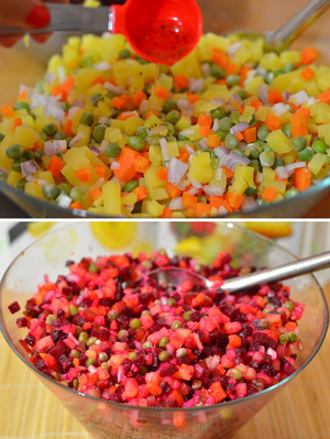 Cách làm salad tím hồng lãng mạn cho bữa tối 6