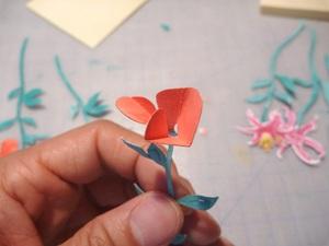 Làm thiệp 3D bình hoa tươi khoe sắc 4