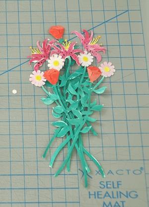 Làm thiệp 3D bình hoa tươi khoe sắc 5