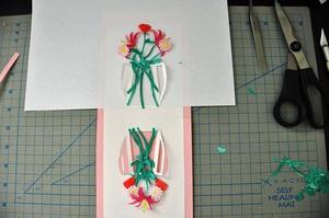 Làm thiệp 3D bình hoa tươi khoe sắc 7