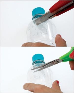 Tự chế móc treo chìa khóa từ vỏ chai nhựa cũ 3