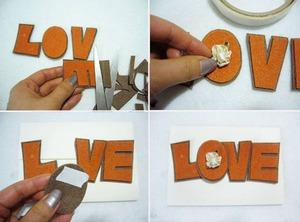 """Tự làm thiệp độc đáo với khóa cài bằng chữ """"LOVE"""" 4"""