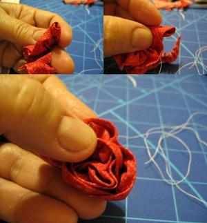 Cách làm hoa hồng vải đơn giản mà đẹp 6