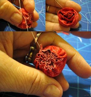 Cách làm hoa hồng vải đơn giản mà đẹp 7