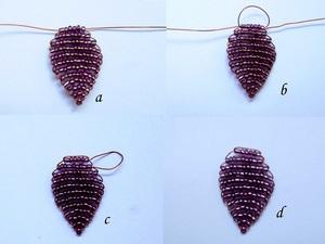Xỏ cườm thành trang sức hình trái tim xinh yêu 3