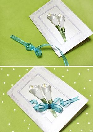 Cách làm thiệp hoa ruy-băng đơn giản mà đẹp 7