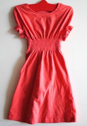 May váy đầm cho bé từ áo cũ của bố 6