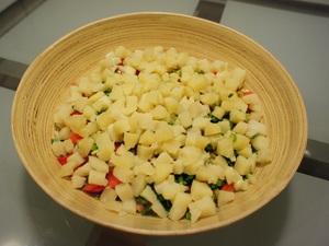 Cách làm salad Nga vị dứa tuyệt thơm 3
