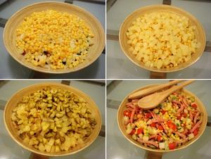 Cách làm salad Nga vị dứa tuyệt thơm 4