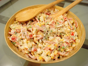 Cách làm salad Nga vị dứa tuyệt thơm 5