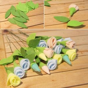 Làm hoa vải lãng mạn trang trí nhà thêm xinh 6