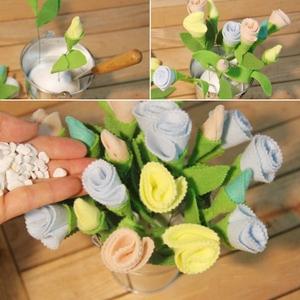 Làm hoa vải lãng mạn trang trí nhà thêm xinh 7