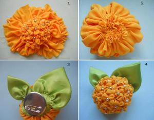 2 cách làm hoa vải gắn phụ kiện thật dễ thương 8