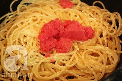 Spaghetti trứng cá cực ngon đổi món cuối tuần 14
