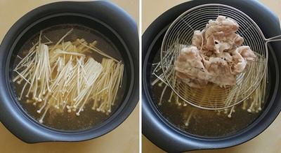 Canh thịt nấu nấm ngọt thơm mát lành 10