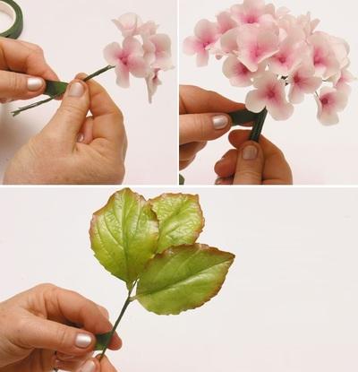 Làm hoa cẩm tú cầu đẹp như hoa thật 11