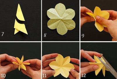 3 bước đơn giản làm hoa thủy tiên giấy 8