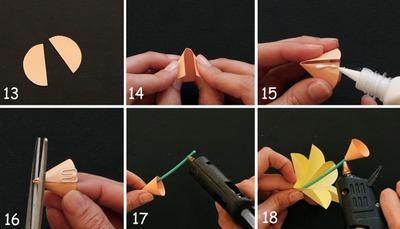 3 bước đơn giản làm hoa thủy tiên giấy 10