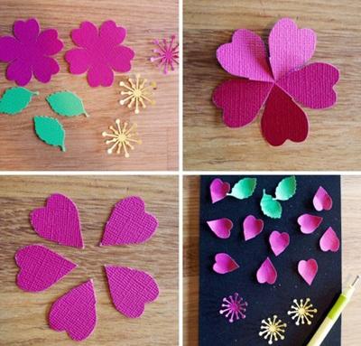3 bước đơn giản làm hoa giấy trang trí nhà mình 5