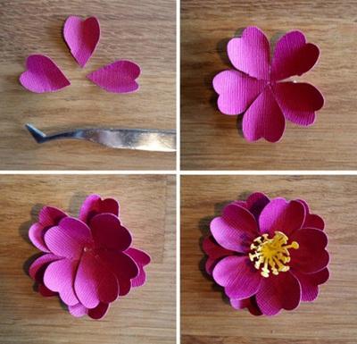 3 bước đơn giản làm hoa giấy trang trí nhà mình 7