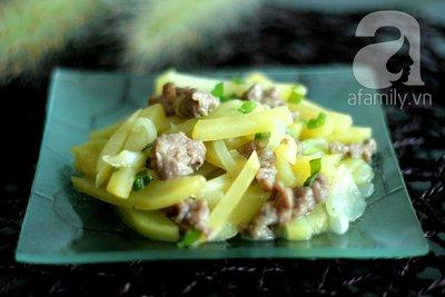 Khoai tây xào thịt băm giản dị mà ngon 20