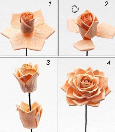 Hướng dẫn làm hoa hồng giấy đơn giản mà đẹp mắt 12