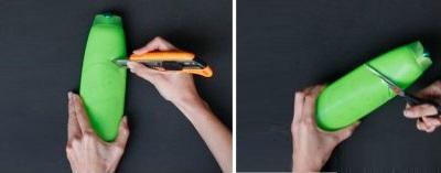 Tự chế ống đựng bút ngộ nghĩnh từ vỏ chai nhựa 5