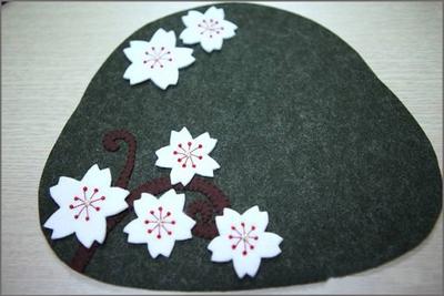 Khéo tay tự may ví cầm tay hoa đào xinh xắn 10