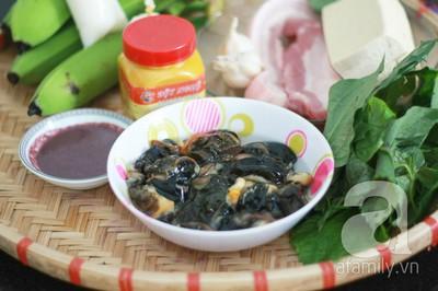 Món ngon cuối tuần: Ốc nấu chuối đậu 3