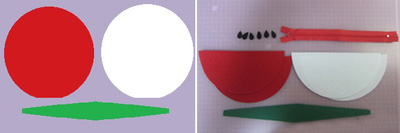 3 bước dễ dàng tự may ví hình miếng dưa hấu 3