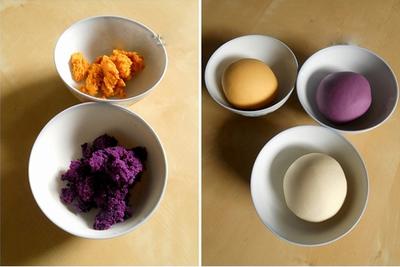 Bánh khoai 3 màu siêu độc đáo và hấp dẫn 5