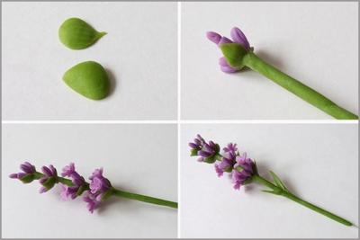 Cách làm hoa oải hương từ đất sét cực đẹp mà đơn giản 13