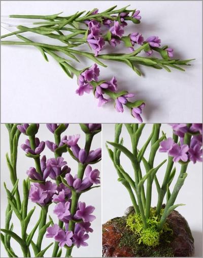Cách làm hoa oải hương từ đất sét cực đẹp mà đơn giản 15