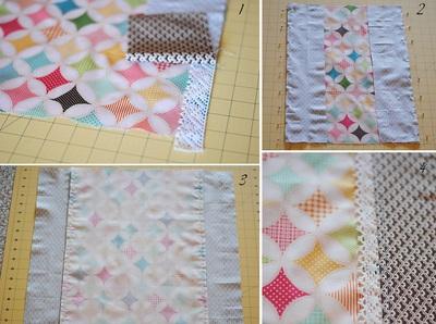 Cách làm chăn chần bông đẹp như chăn ghép vải 6