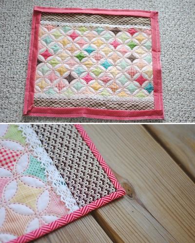 Cách làm chăn chần bông đẹp như chăn ghép vải 14