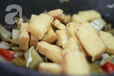Dưa xào đậu phụ giản dị ngon cơm 14