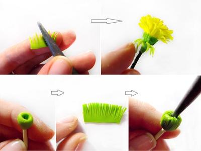 Cách làm hoa bồ công anh từ đất sét siêu xinh 10